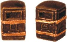 Harburn Hamlet SS372 Litter Bin Square Black/Gold (Pair)