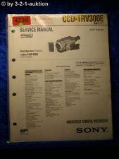 Sony Service Manual CCD TRV300E Video 8 Camera Recorder (#4738)