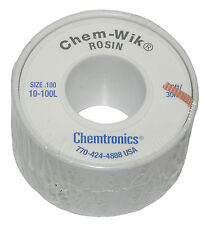 Chemtronics 10-100L 100' Solder Wic Wick Braid For Solder Removal from Circuits