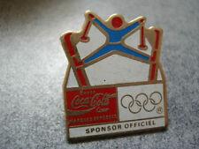 PINS VINTAGE SPORT JEUX OLYMPIQUES SKI SPONSOR OFFICIEL OLYMPIC GAMES wxc r