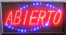 Spanish Bright ABIERTO LED Open Sign Animated For Business 19 x 10""