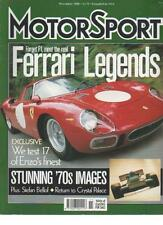 MOTOR SPORT  MAGAZINE  NOVEMBER 2000  FERRARI  LEGENDS   LS