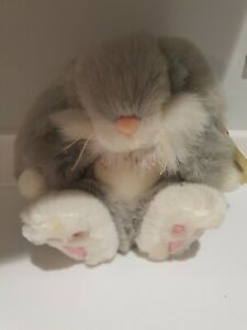 """KEEL TOYS SIMPLY SOFT TOY PLUSH GREY RABBIT NEW WITH TAGS 8"""""""