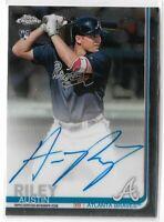 2019 Topps Chrome Baseball Austin Riley On Card rookie autograph Atlanta Braves
