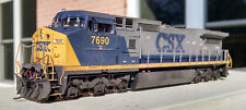CSX 7690 YN2 Atlas Dash 8-40CW. Factory Sound, DCC, Custom Number and Weathered.