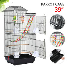 39'' Bird Cage w/Toys for Mid-Sized Parrots Cockatiels Parakeet Conures Lovebird