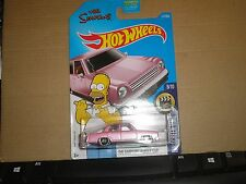 THE SIMPSONS family car #112✰pink; mc5✰doh✰SCREEN TIME✰2017  Hot Wheels case J