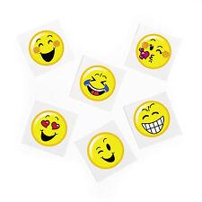 36 Emoticon Emoji temporary Tattoos Birthday Party Favor Loot Bag Filler