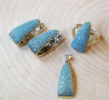 925 Sterling Silver Handmade Gemstone Turkish Turquoise Ladies Set