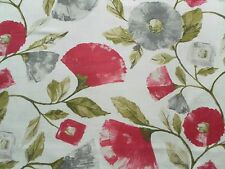 Harlequin Curtain Fabric LISANNE 3.7m Fuchsia/Slate Modern Floral Design 370cm