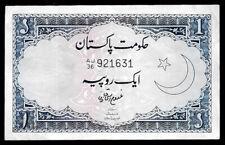 World Paper Money - Pakistan 1 Rupee ND 1964 P9A @ Crisp VF
