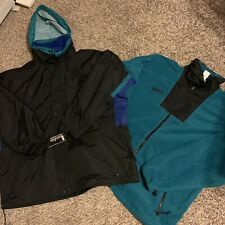 Vintage 90s Columbia 3 In 1 Long Peak Winter Ski Jacket Coat Size XL