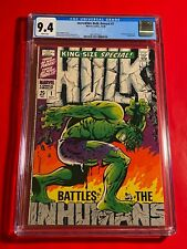 INCREDIBLE HULK ANNUAL #1 CGC 9.4 NM ICONIC JIM STERANKO COVER 1968 KING SIZE