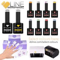 VB™ Line 3 Colours Top and Base coat Starter kit - 9W LED Lamp Nail Gel Polish