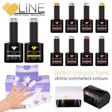 VB™ Line 3 Colours Top and Base coat Starter kit - 9W LED Lamp Nail Gel Polish