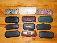 Lot of 12 Vintage Glasses Spectacles, Optometrist Eyeglass Cases (Cases Only)