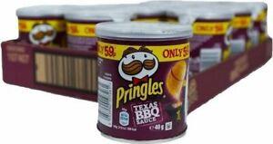 Pringles Pop & Go Travel Box  12 x 40g Texas Bbq Flavour