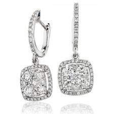 Diamond Drop Earrings 1.25ct F VS in 18ct White Gold