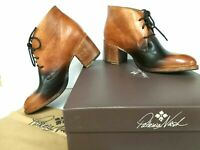 Patricia Nash Women's VENETO Boot Italian Leather TAN Lace-Up Booties-Z7