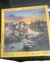 Sunset Chickadees 500 Piece Jigsaw Puzzle 18x19