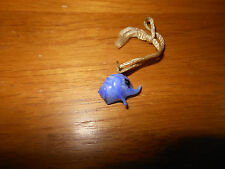Vintage Blue Elephant Bubble Gum Charm From The 1930's With Tassel