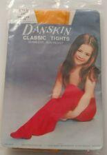 Vintage DANSKIN Classic Tights Seamless Run-Resist Toddler Size 2-3X Orange
