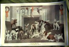 Many Dogs Christmas Reprint 1920s Life Mag Boston Terrier Westie Schnauzer