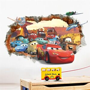 3D Mcqueen Cars Wall Sticker For Kids Room Living Room Home Mural Mural Decals
