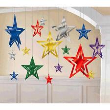 Graduation Party Decor 3-D Foil Star Decoration Wedding Birthday Party Supplies