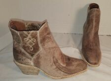 NEW FREE PEOPLE X FARYLROBIN WILLIAMS DISTRESSED BROWN LEATHER ANKLE BOOTS US 8