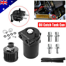 Oil Catch Breather Can Kit Universal Petrol Filter Baffled Diesel Reservoir Tank