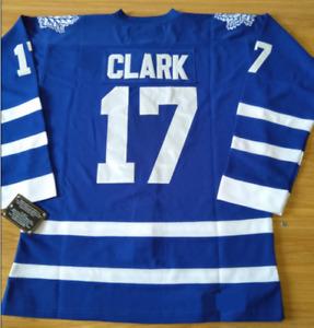 Maple Leafs Blue Wendel Clark Jersey M, L, XL, 2XL, 3XL