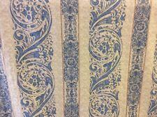 5m Blue Stone Vat Printed Swirly Flame Retardant Upholstery Curtain Fabric