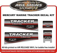 MERCURY MARINE TRACKER 25 HP DECAL KIT  reproduction also in 20 30 35 40 hp