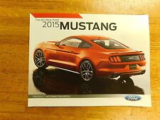 2015 FORD MUSTANG SHELBY GT GT/CS PRODUCT INFORMATION BOOK SALES BROCHURE
