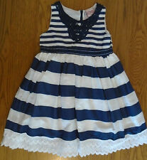 BNWT girls Chloe Louise blue & white lined summer dress. 2 - 3 years
