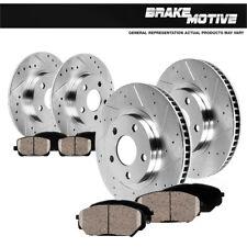 Front+Rear Drill Slot Brake Rotors And Ceramic Pads For Acura TSX Honda Accord
