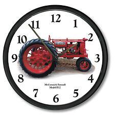 """New McCormick Farmall Wall Clock 10"""" Round Vintage Model F-12 Wall Clock"""
