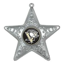 Pittsburgh Penguins Silver Star Ornament