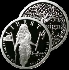 1 OZ 999 SILVER BULLET SILVER SHIELD PROOF ROUND COIN LIBERTY FREEDOM GIRL SBSS