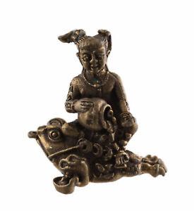 Amulette Guman kuman thong grenouille pour la Fortune Richesse feng shui 2184