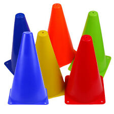 6pc Agility Marker Cones Slalom Skating Football Soccer Rugby Traffic Sport Kit