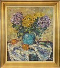EXPRESSIONIST EINER JOHANSEN 1893–1965 »STILLLEBEN BLUMEN & FRÜCHTE« 89 × 78 cm