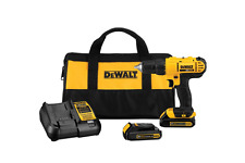 DeWalt Cordless Drill/Driver Kit 20-Volt Max Lithium-Ion 1/2 in. 2 Speed NEW