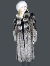 Silver Fox Fur Coat Full Length Mint Condition Med/Lg