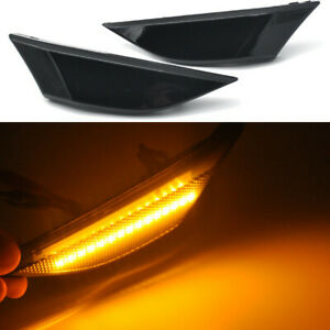 2x smoked LED Side signal Light For Porsche 991 2012-2016 981 Boxster Cayman 718