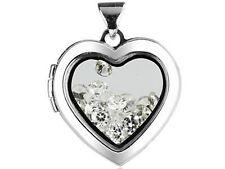 Pendentif médaillon coeur, porte photo ou objet précieux Argent sterling
