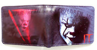 It Horror Movie Bifold Wallet purse id window 2 card slots coin pocket Cartoon