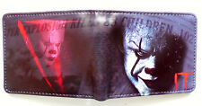 It Horror Movie Bifold Wallet purse id window 2 card slots coin pocket Pennywise