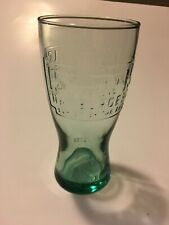 McDonalds 1948 collectible green drinking glass cup 15 oz